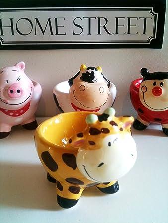Ladybird Egg Cup - Ceramic Animal Eggcups Kitchen Gift Range: Amazon ...