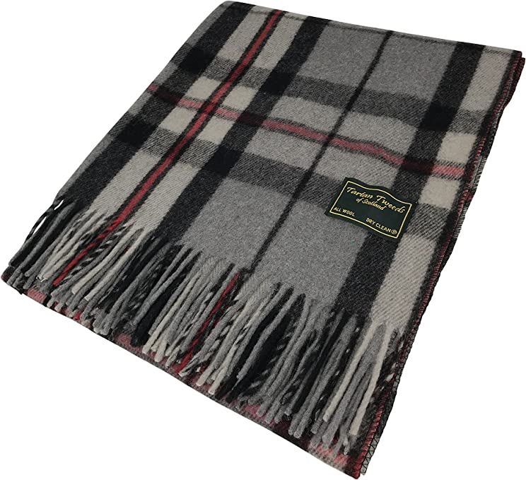Highland /écossais Tartan Tweeds 100/% laine Dark Maple Tartan Couverture//Tapis