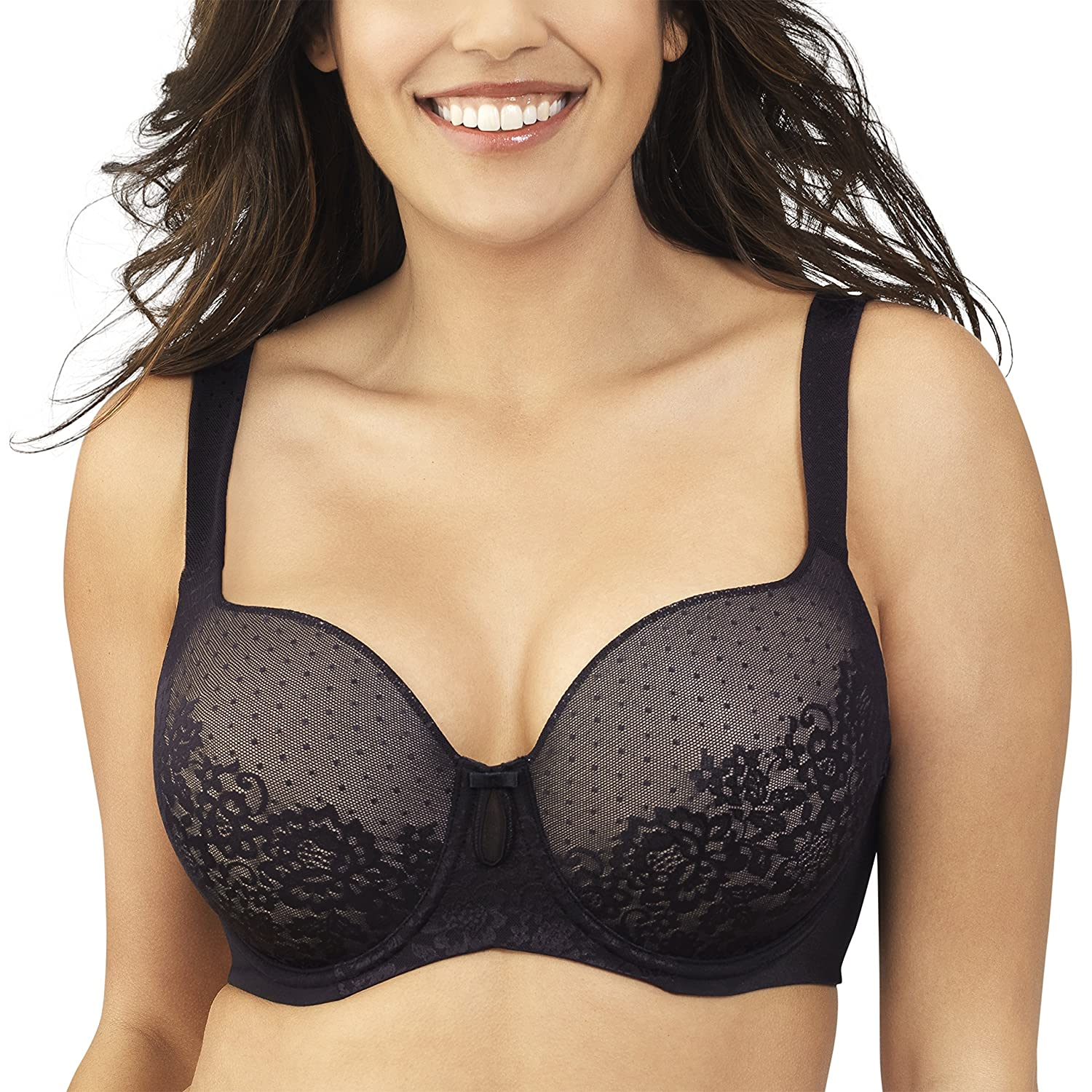 Vanity Fair Women's Flattering Lift Lace Full Figure Underwire Bra 76262