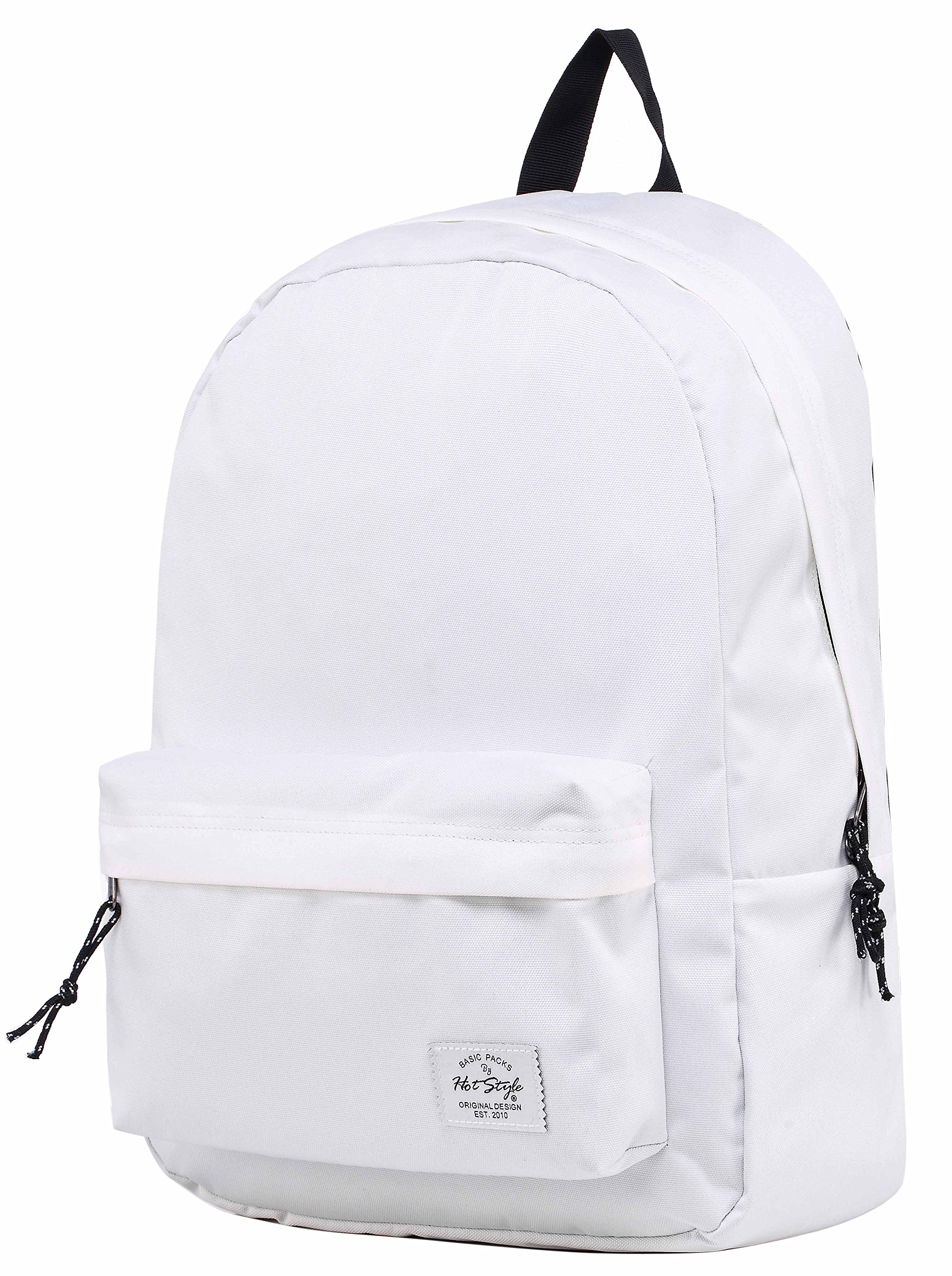 SIMPLAY Classic School Backpack Bookbag, White by HotStyle