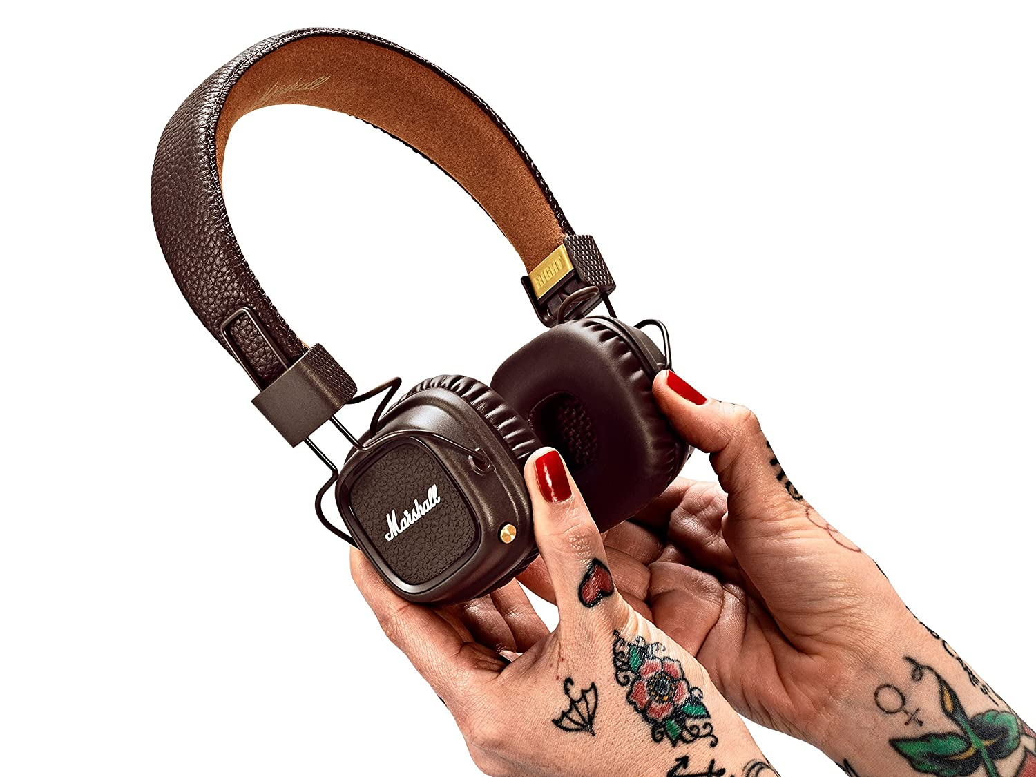 Marshall Major II - Auriculares con diadema (Bluetooth v4.0, Dynamic, conector de 3.5 mm, 98 dB, 20 Hz-20 kHz)  color marrón: Amazon.es: Electrónica