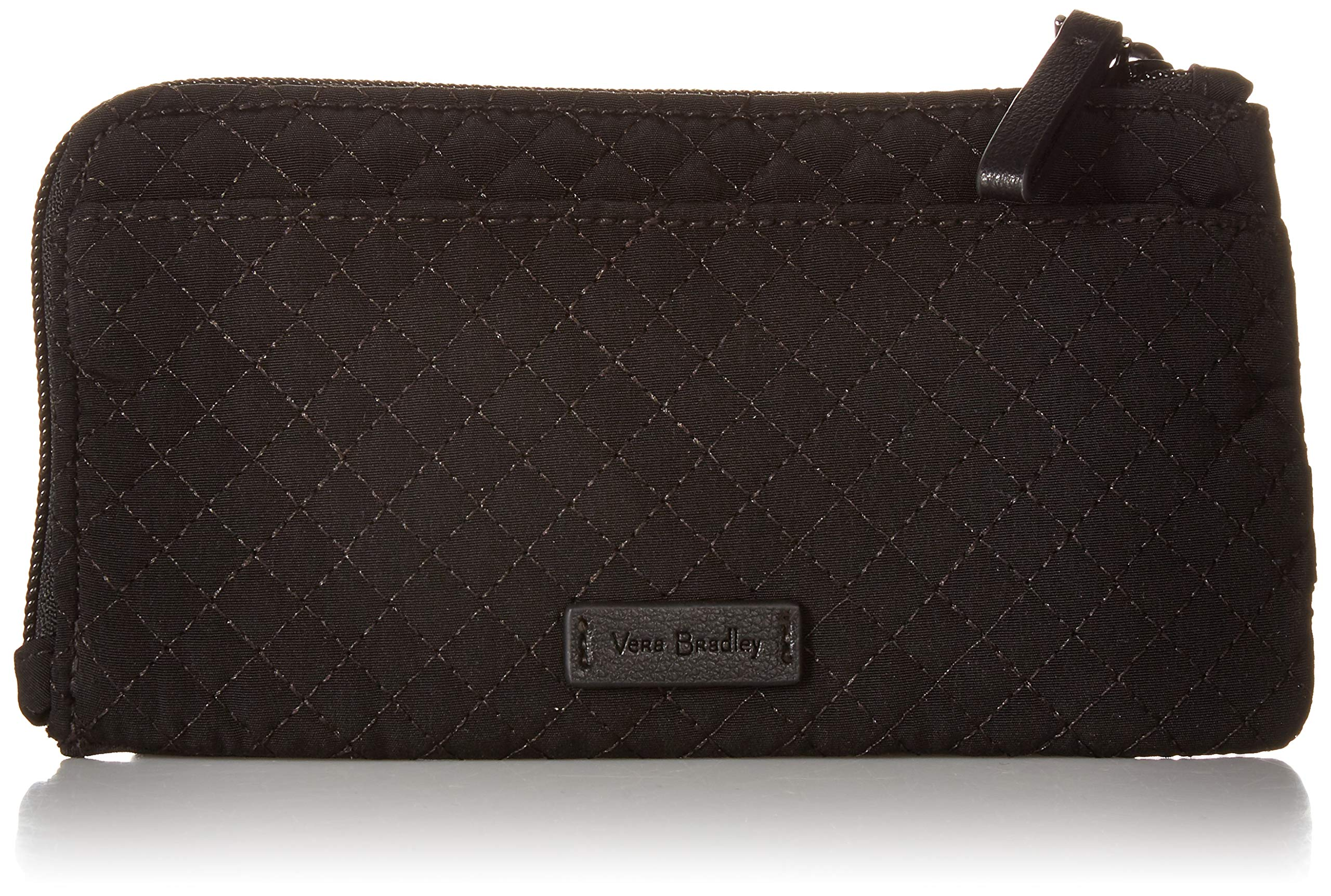 Vera Bradley Iconic RFID Ultimate Card Case, Microfiber, Classic Black