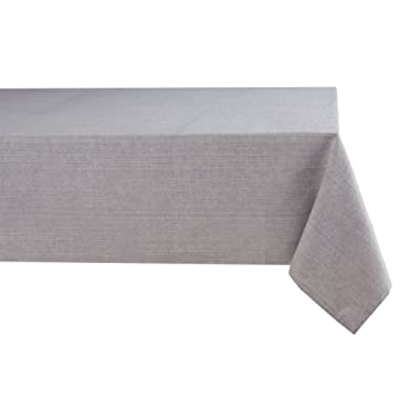 Sticky Toffee Easter Cotton Tablecloth 60 in x 84 in, Gray Solid, Seats 6 to 8 People