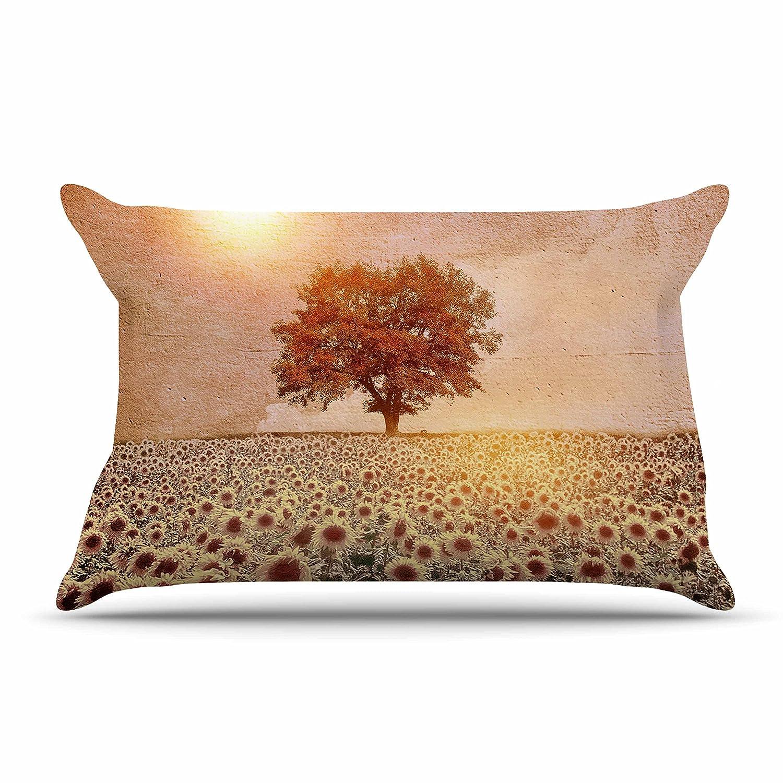 30 X 20 Kess InHouse Viviana Gonzalez Lone Tree /& Sunflowers Field Featherweight Sham