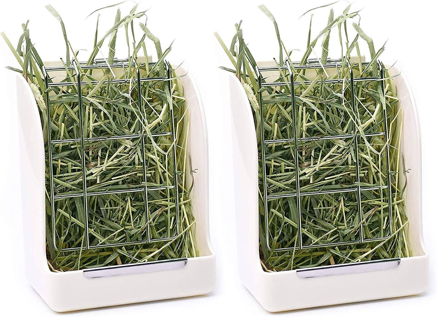 CalPalmy Hay Feeder for Rabbits, Guinea Pigs, and Chinchillas - Minimize Waste and Mess with 5 1/2