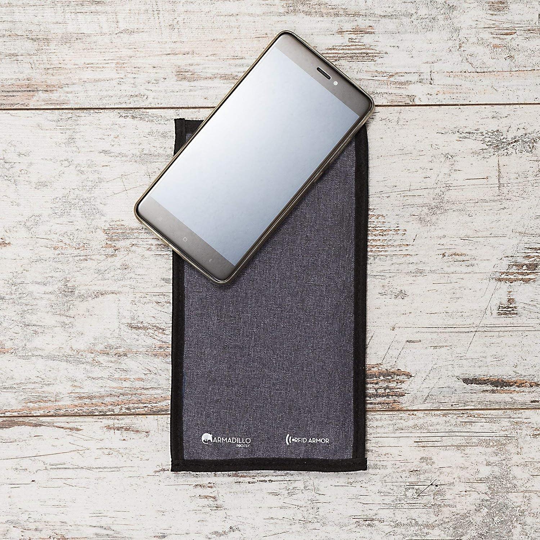 Armadillo Pro-tec RFID Blocage de Signal Sacs Ensemble de Cage de Faraday 1//étui de Protection pour Grands Smartphones et Porte-cl/és 1/Carte RFID. 1//étui pour Grandes tablettes//iPad