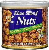 KHAO SHONG Erdnüsse, scharf gewürzt, (Mexican), 6er Pack (6 x 140 g Dose)