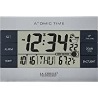 La Crosse Technology Atomic Digital Alarm Clock (Silver)
