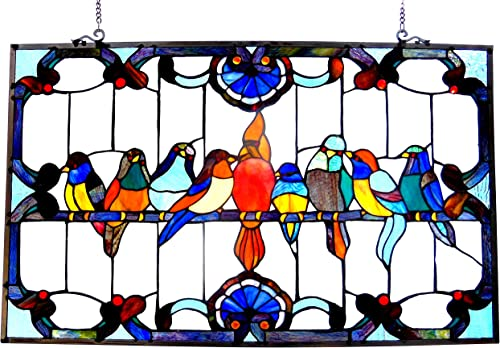 Mission Style, Craftsman Color, 10.25 x 42 Vertical Stained Glass Panel