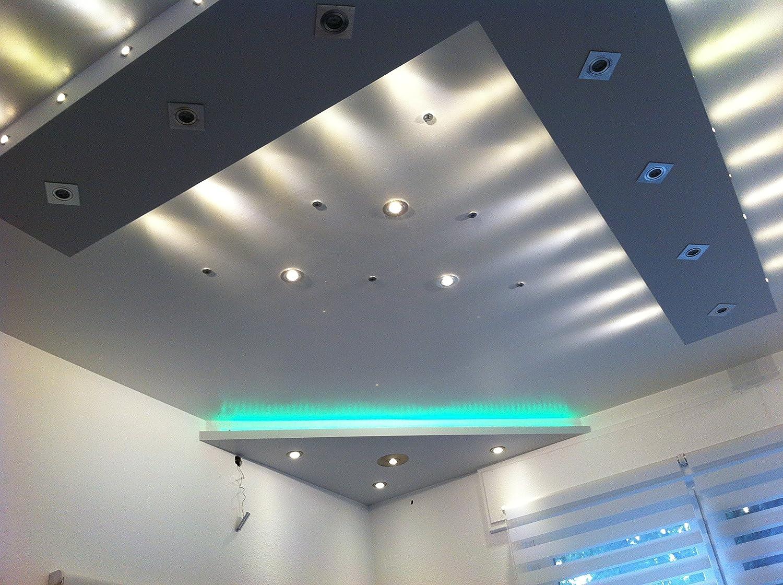 Decken Einbauspots IP65 Aqua Bad /& Dusche Feuchtraum Nassraum eckig oder rund 12V und 230V f/ür LED oder Halogen Leuchtmittel rund weiss