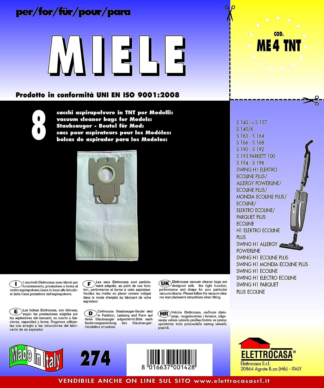 Acquisto Elettrocasa ME 4 TNT Stick vacuum Sacchetto per la polvere accessorio e ricambio per aspirapolvere Prezzo offerta