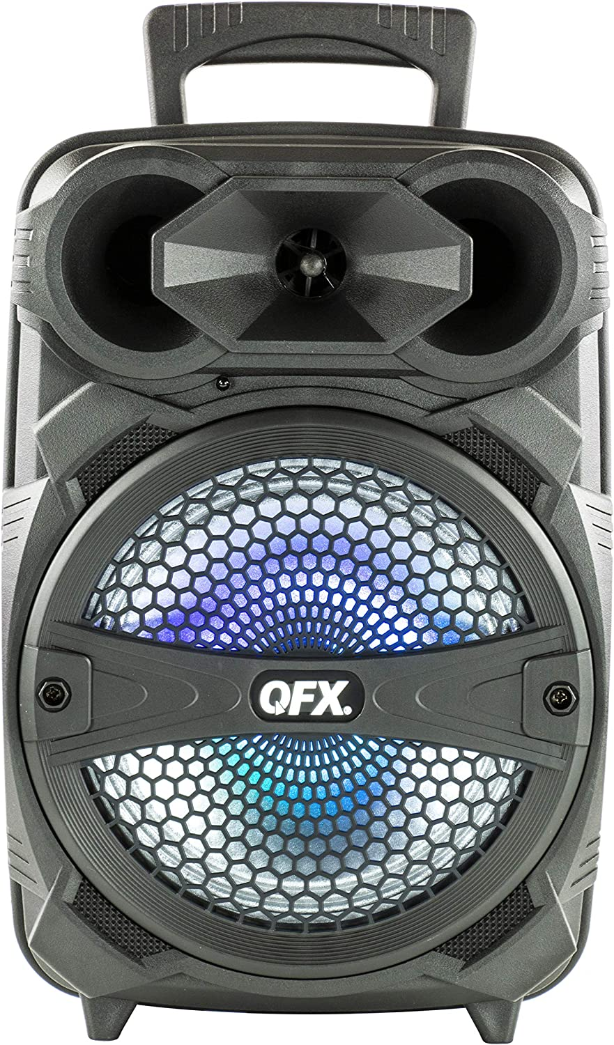 "QFX PBX-81 8"" Portable Bluetooth Party Sound System with Microphone"