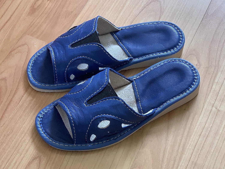 Royal Blue Fashion Ladies Slippers Peep