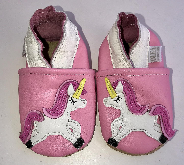Suaves Zapatos De Cuero Del Bebé Unicornio 2-3 años s3h6LR