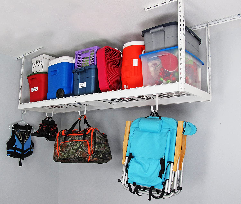 Amazon.com SafeRacks - 2x8 Overhead Garage Storage Rack (12 -21 ) Home u0026 Kitchen & Amazon.com: SafeRacks - 2x8 Overhead Garage Storage Rack (12