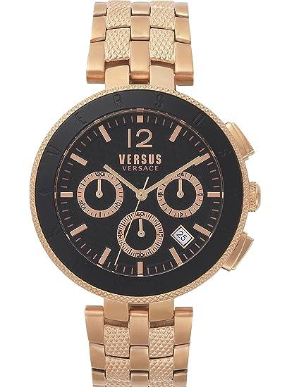 Versus by Versace Reloj Analogico para Hombre de Cuarzo con Correa en Acero Inoxidable VSP762618: Amazon.es: Relojes