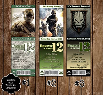 Amazon call of duty birthday ticket invitation health call of duty birthday ticket invitation filmwisefo Image collections
