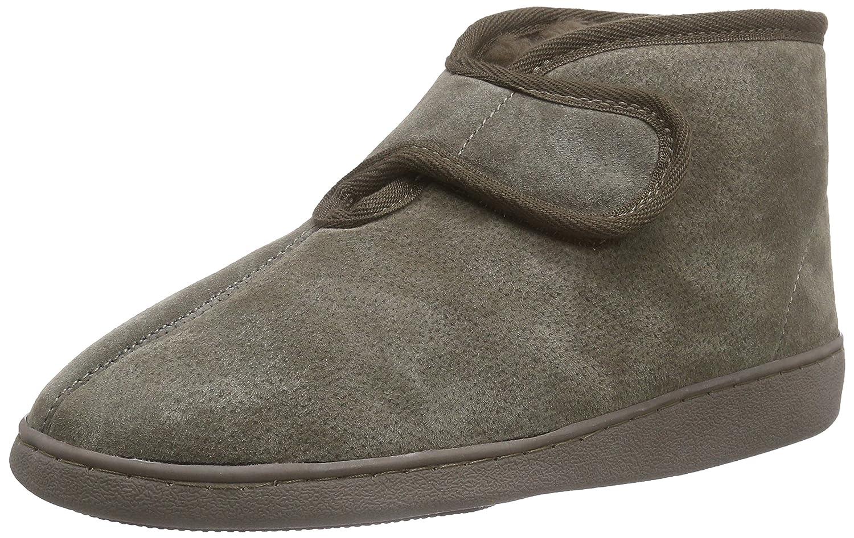 Pantofole pelle di pecora ATENE (100% pelliccia d'agnello) Marrone