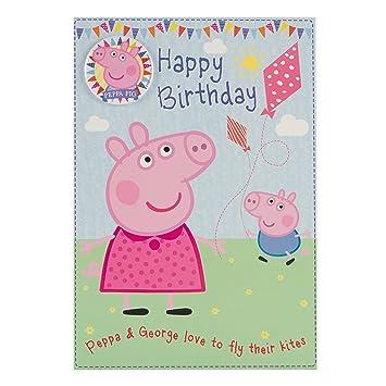 Amazon Com Peppa Pig Birthday Card Happy Birthday With Safety