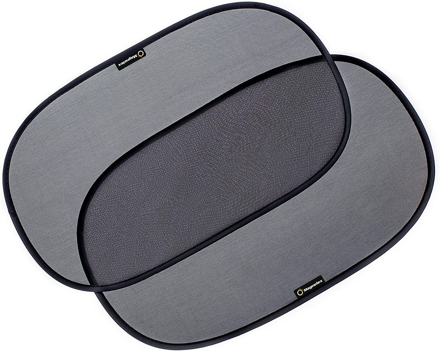 Protect Baby and Passengers from Harsh Sun Rays with 2 Transparent and 2 Semi-Transparent Side Window Sun Shades Made of Premium Mesh and 15s Static Cling Film Car Window Shades 4-Pack