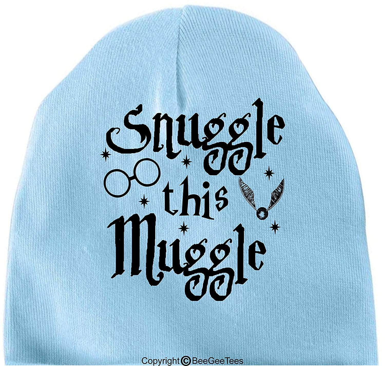 c62ba1ea6 Amazon.com: BeeGeeTees Snuggle This Muggle Funny Baby Cap Soft Warm ...