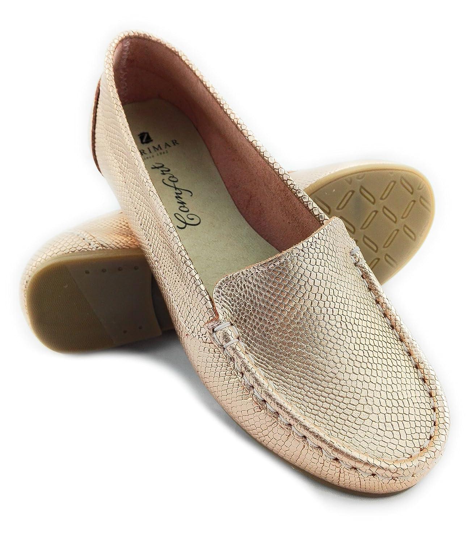 Zerimar Mocassins pour en Cuir Cuir pour Femme | Chaussures Chaussures Femme | Confort | Couleur: Argent | Taille: 36 Saumon 30ec050 - latesttechnology.space