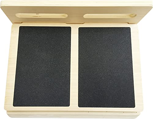 WODFitters Wooden Slant Board for Calf Stretching Adjusts to 4 Positions Non-Slip Surface and Base