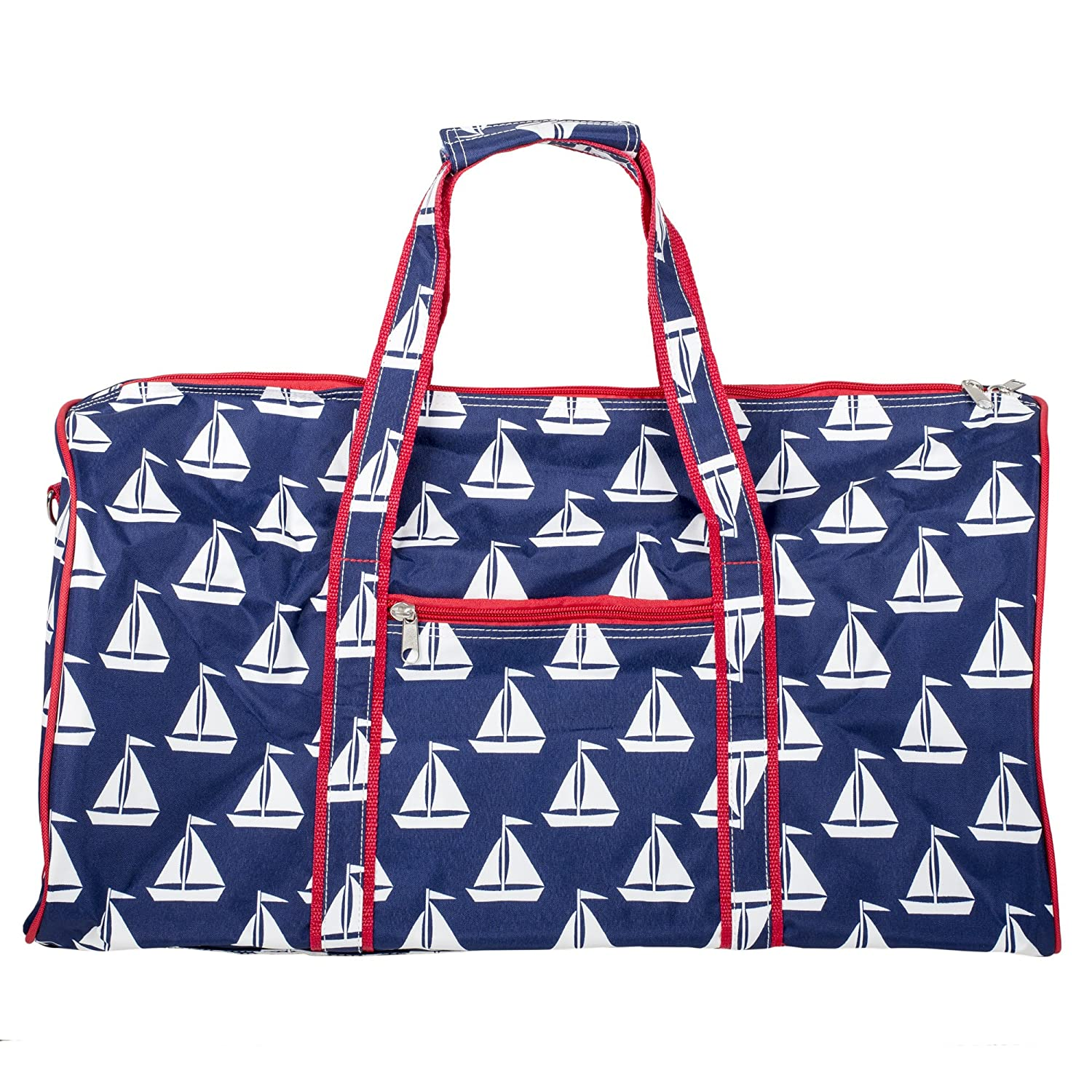 Amazon.com   Custom Personalized 21 in Print Duffle, Overnight, Carry On Bag  with Outside Pocket and Shoulder Strap   Carry-Ons bc2389da7d
