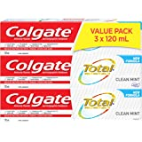 Colgate Total Toothpaste, Clean Mint, 120 mL (3 pack)