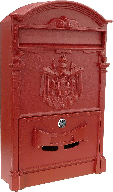 Rojo Cablematic BZ32-VCES Buz/ón Antiguo Met/álico