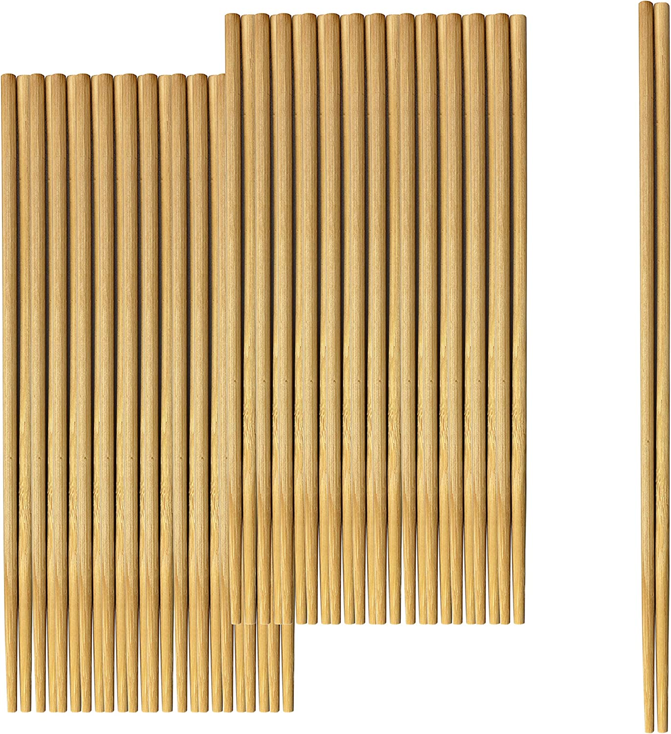 Bamboo Wooden Separated Disposable Chopsticks-50 Pairs-100 Pairs-200 Pairs- Individually Wrapped- Premium Quality Chopsticks for Sushi, Noodles and Asian Food (200)