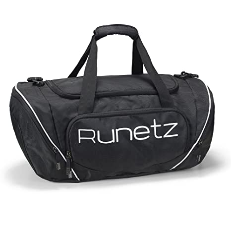 db45c90bbc70 Amazon.com  Runetz - Gym Bag for Women and Men - Ideal Workout Overnight  Weekend Bag - Sport Duffle Bag - Large Size