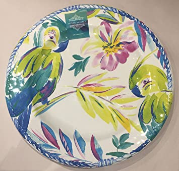 Artistic Accents Melamine Set of 4 Dinner Plates PARROTS  sc 1 st  Amazon.com & Amazon.com | Artistic Accents Melamine Set of 4 Dinner Plates ...