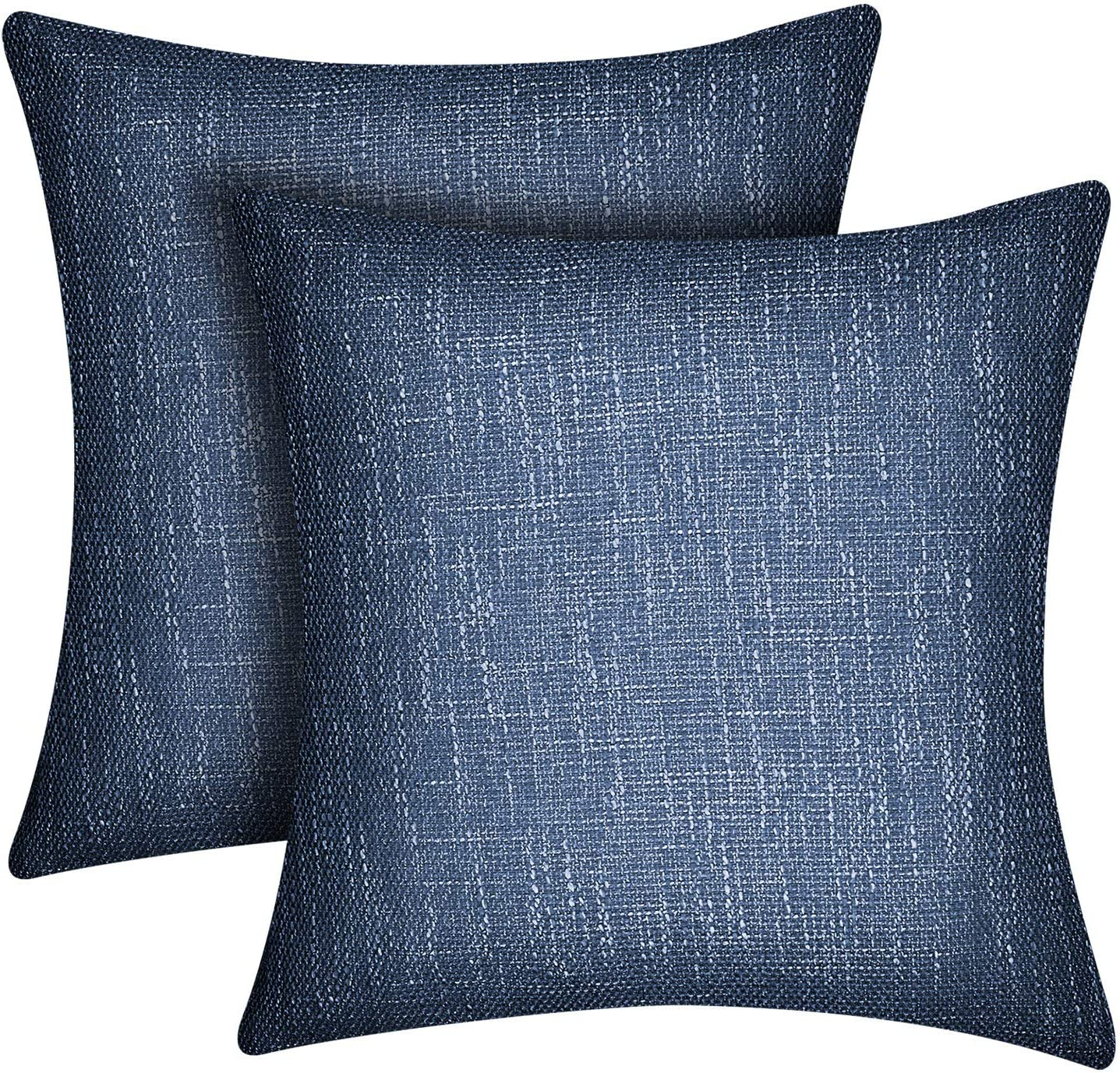 Amazon Com Lirex Linen Throw Pillow Covers 2 Pack 18 X 18 Inches Flax Linen Soft Solid Color Square Linen Decorative Pillow Cover Antistatic And Breathable Royal Blue Home Kitchen