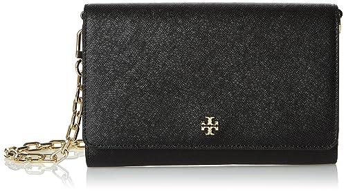 4083d52fae5 Amazon.com: Tory Burch Women's Robinson Chain Wallet, Black, One ...