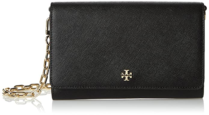 e0415acfc Amazon.com: Tory Burch Women's Robinson Chain Wallet, Black, One Size: Tory  Burch: Shoes