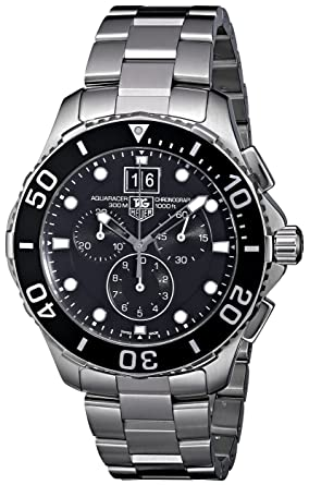 a4ed5be6a2e TAG Heuer Men's CAN1010BA0821 Aquaracer Stainless Steel Chronograph Watch