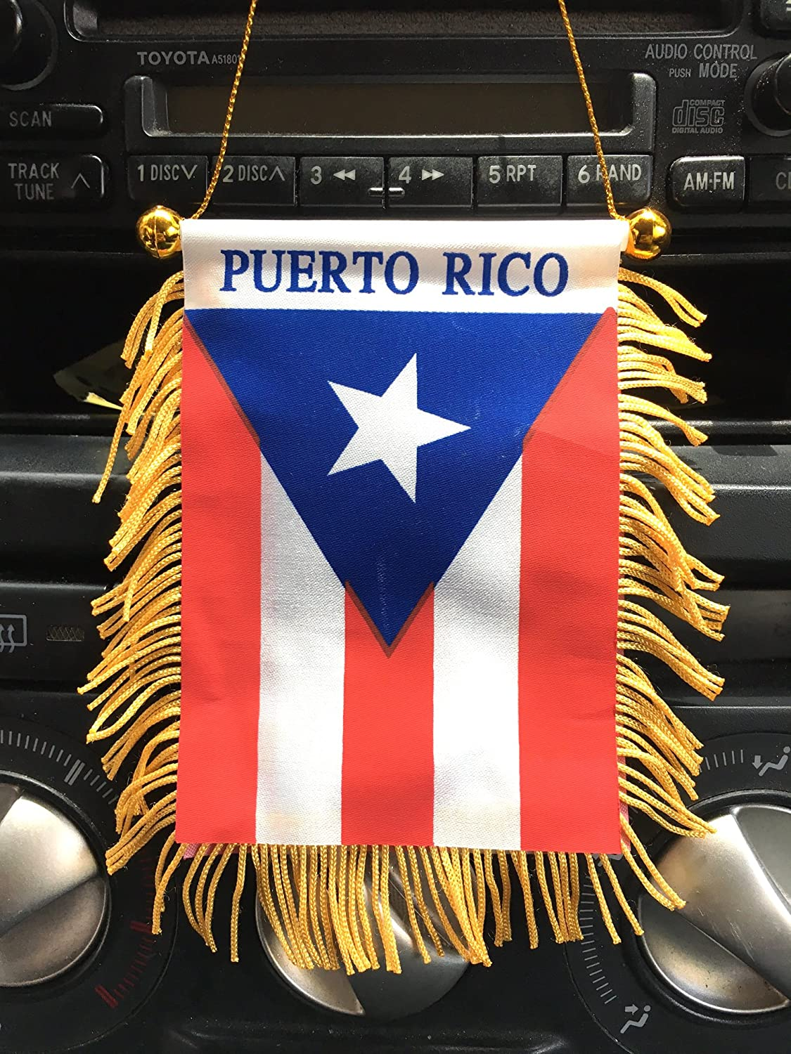 Puerto Rico automobile mini banner flag And mad can auto patch 2 set Boricua Puerto Rican mini auto flag N auto or clothing patch