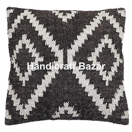 Handmade 2 Pcs Throw Pillows Online Jute Rug Cushion Cover US JuteKilim  Pillow Cover 18x18 5bb48534b6e3