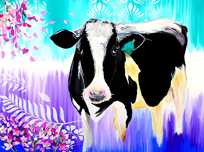paintings of cows, cow painting on canvas, cow paintings on canvas, canvas paintings