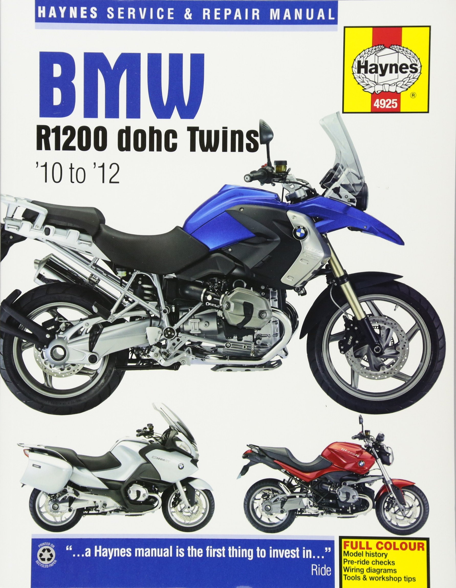 bmw r1200 dohc twins 10 to 12 haynes service repair manual rh amazon com bmw r1200gs lc wiring diagram bmw r 1200 wiring diagram