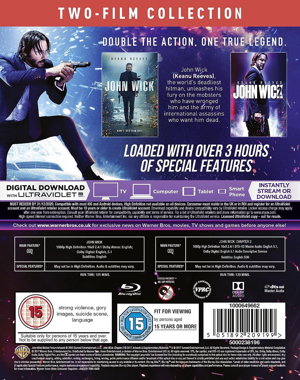 John Wick 1 & 2 2 Blu-Ray Edizione: Regno Unito Reino Unido Blu-ray: Amazon.es: Cine y Series TV