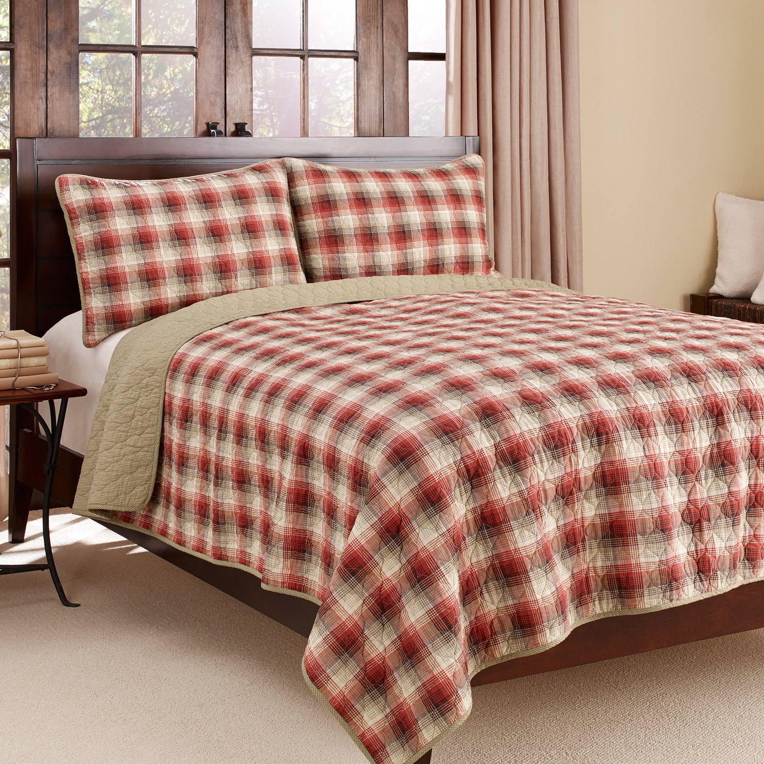 3-Piece Cotton Reversible Quilt Set
