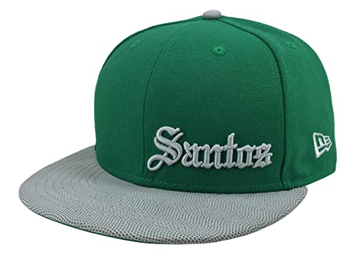 New Era 59Fifty Hat Santos Laguna Soccer Club Mexican League Fitted Green / Gray Cap (