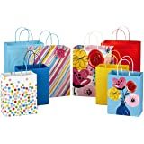 Hallmark Gift Bags Assortment—Floral, Stripes, Polka Dots (Pack of 8 Large and Medium Paper Gift Bags for Mothers Day, Birthdays, Baby Showers, Bridal Showers, Holidays)