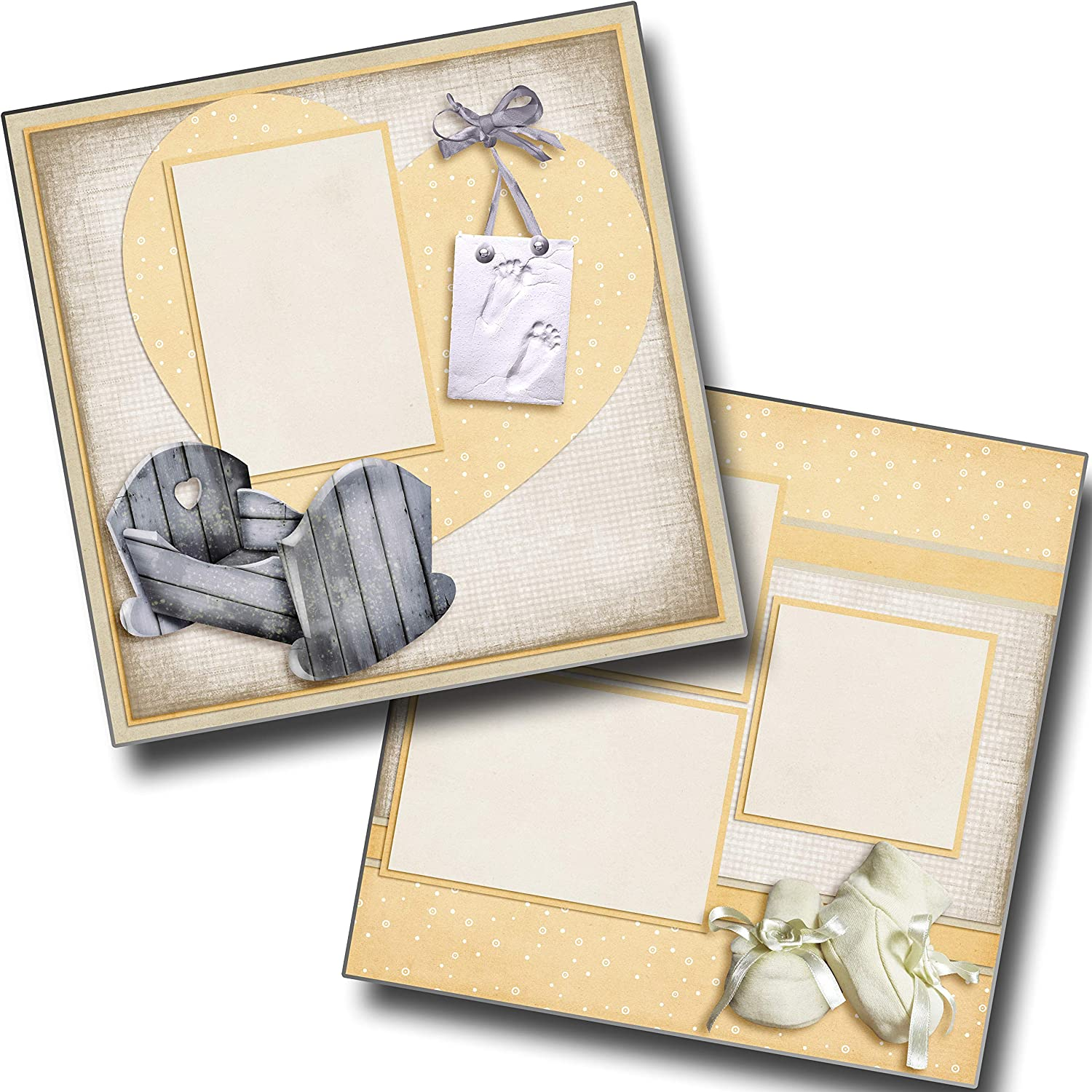 EZ Layout 4204 Rock A Bye Baby Premade Scrapbook Pages