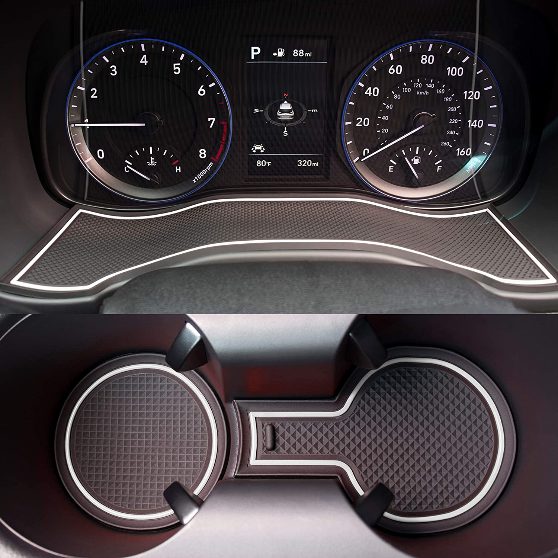 New Interior Carbon Trim Sticker Steering Wheel Set for Hyundai Kona 2018~