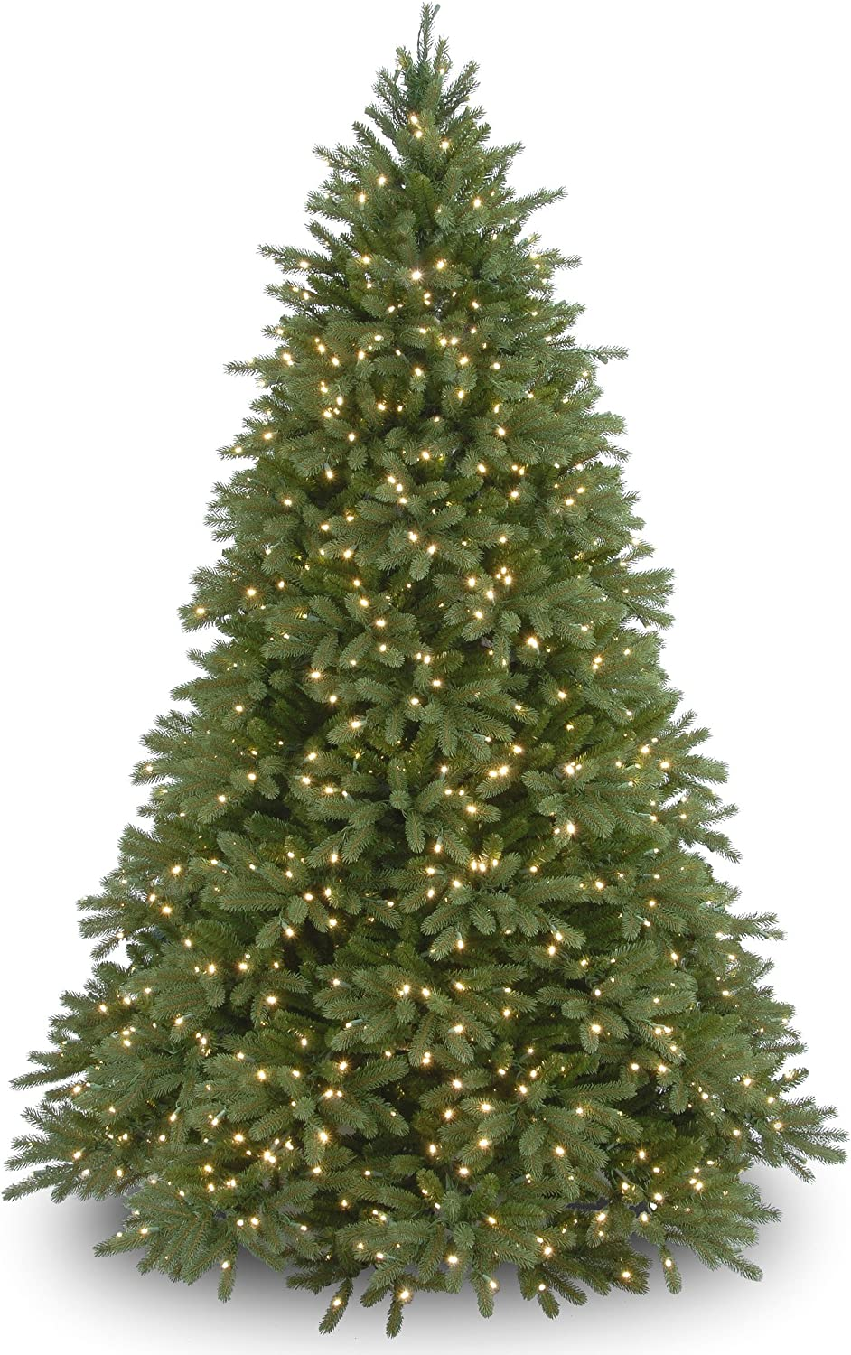 National Tree Company 'Feel Real' Pre-lit Artificial Christmas Tree   Includes Pre-strung White Lights and Stand   Jersey Fraser Fir - 6.5 ft