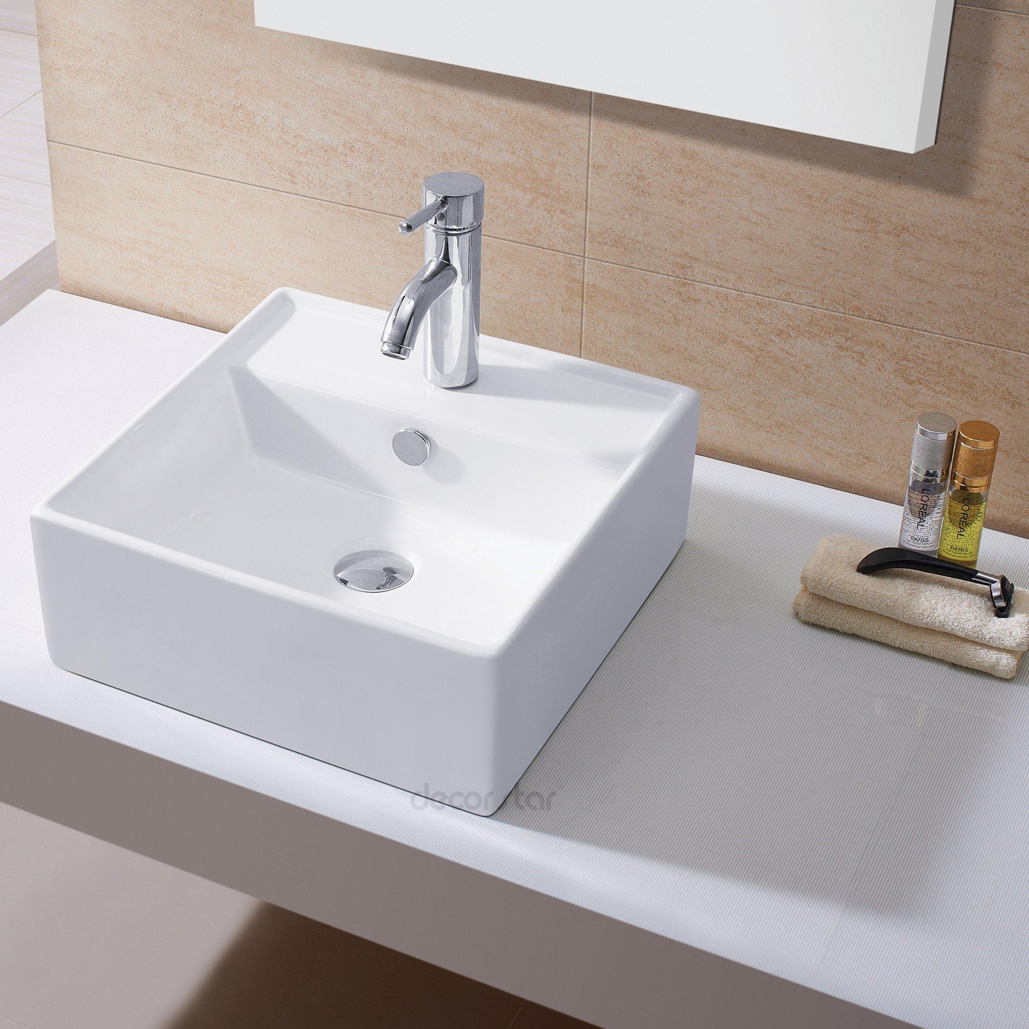 Decor Star CB-019 Bathroom Porcelain Ceramic Vessel Vanity Sink Art Basin