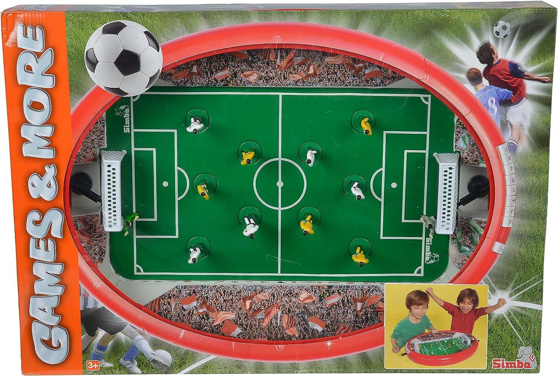 Simba Soccer Arena Mesa Interior fútbol de Mesa - Futbolín (Mesa, Rojo, Interior, Verde, Multi, Brillo)